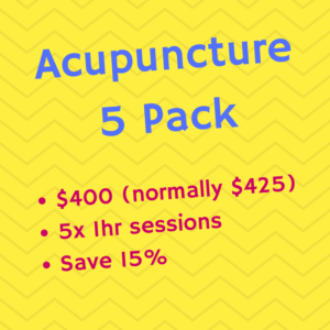 Acupuncture 5 Pack