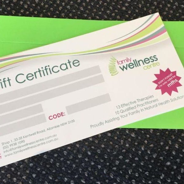Gift Certificate Northern Beaches