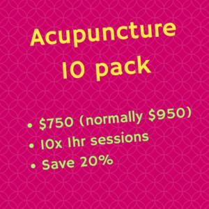 Acupuncture 10 pack