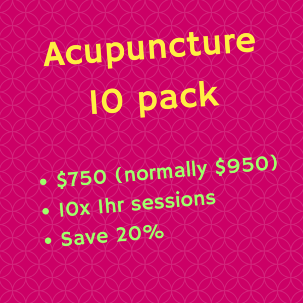 Acupuncture 10 pack